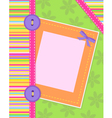 colorful card vector image