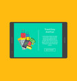 concept webpage for tablet vector image vector image