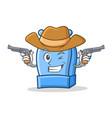 cowboy pencil sharpener character cartoon vector image vector image
