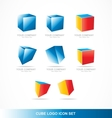 Cube logo icon set corporate vector image vector image