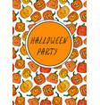cute halloween pumpkins autumn or fall party vector image vector image
