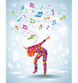 Dancing young girl vector image