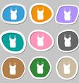 dress icon symbols Multicolored paper stickers vector image vector image