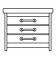 dresser icon outline style vector image