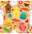 easter bright seamless pattern vector image vector image