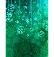 Elegant Christmas bauble background vector image vector image
