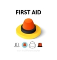 First aid icon in different style vector image vector image