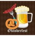 Germany cultures and oktober fest design vector image