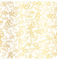 golden leaves texture seamless repeat vector image vector image