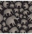 gray elephants simple seamless black pattern eps10 vector image