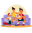 happy family great father spend time with vector image vector image