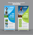 health and fitness roll up banner vector image