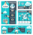 infographic cloud technologies vector image