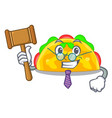 judge omelatte fried isolated on the mascot vector image vector image