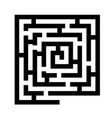 labyrinth black icon vector image