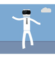 man goes in VR glasses vector image vector image