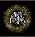 merry christmas lettering in glitter frame vector image