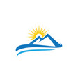 mountain icon logo business template vector image vector image