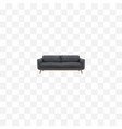 realistic settee element of vector image vector image