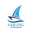 sailing logo with text space for your slogan vector image vector image