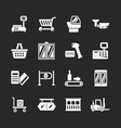 set icons retail and supermarket equipment vector image