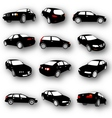 Set of Car Silhouettes vector image vector image