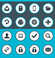 set of simple application vector image vector image
