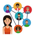 Social network and people vector image