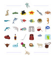 species sea animal and other web icon in cartoon vector image