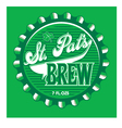 stpatbrew vector image vector image