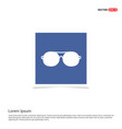 stylish eyeglasses icon - blue photo frame vector image