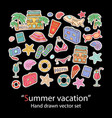 summer vacation hand draw set vector image
