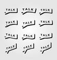 talk logo symbol minimalist design vector image vector image