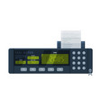 taximeter device calculating equipment vector image vector image