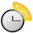 Timer 15 minutes vector image