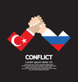 Turkey VS Russia Arm-Wrestle vector image vector image
