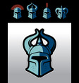Warrior helmet logo set