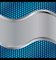 wave silver blue vector image vector image