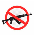 weapon forbidden sign icon vector image vector image