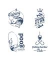 fishing club emblems vector image