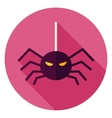 Spider Hanging on Web Icon vector image