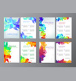 abstract modern flyers brochures set design vector image vector image