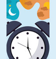 alarm clock time classic bell vector image