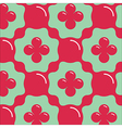 Aqua Floral Seamless Pattern vector image