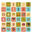 assembly flat icons gay symbols vector image