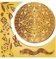 Aztec calendar in gold vector image vector image