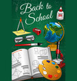 back to school geometry geography art lesson item vector image vector image