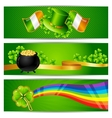 Banners for Saint Patricks day vector image vector image