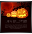 big halloween banner with carved vector image vector image