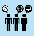 business network vector image vector image